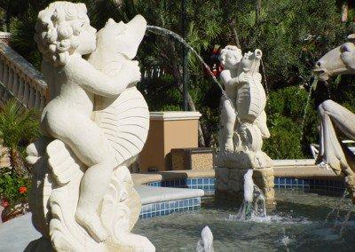 Kansas Limestone Fountain