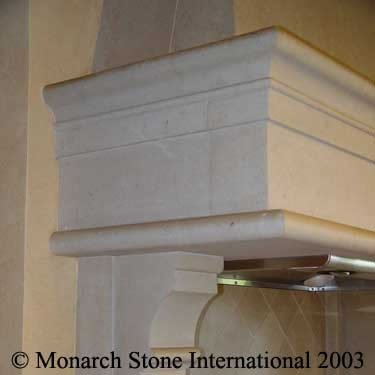 Texas Limestone Fireplace