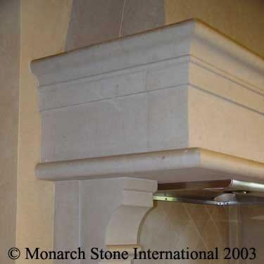 Texas Limestone Fireplace