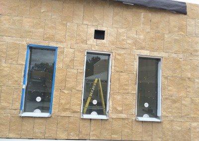 07-Santa Barbara Sandstone, Eastlake High School Office veneer
