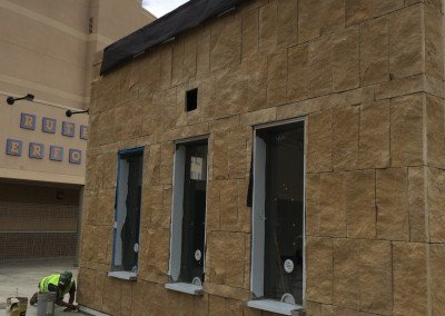 08-Santa Barbara Sandstone, Eastlake High School Office veneer
