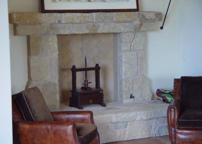 09-Santa Barbara Sandstone Fireplace