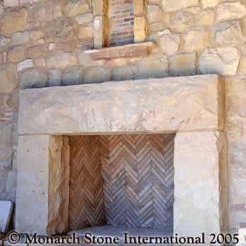 Santa Barbara Sandstone Fireplace