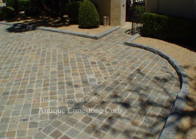05-Antique European Limestone Curb and Reclaimed Sandstone Cobble