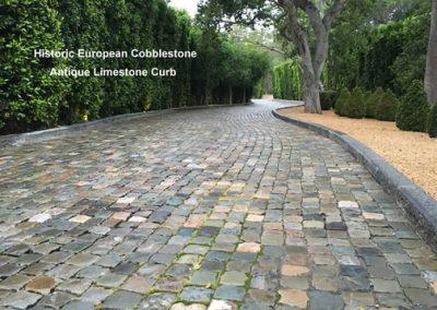 66-Sandstone 5x5 Cobble and Limestone Curb