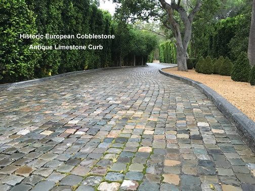 Salvaged Cobblestone Paving for Driveways, Walkways, Patios