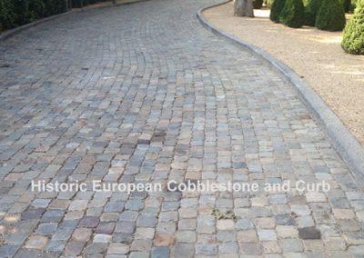 68-Sandstone 5x5 Cobble and Limestone Curb