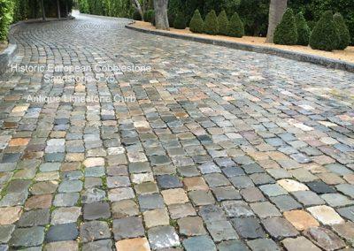 69-Sandstone 5x5 Cobble and Limestone Curb