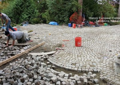79. Antique Sandstone Mosaic Cobble Install