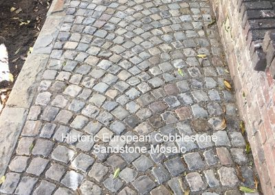 73- Antique Sandstone Mosaic Cobblestone and new Curb