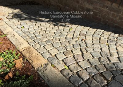 74- Antique Sandstone Mosaic Cobblestone and new curb