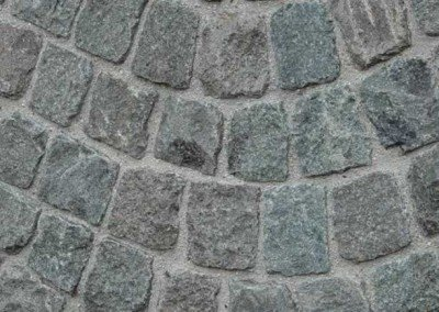 Historic European Cobblestone Antique Granite Cobble Mosaic