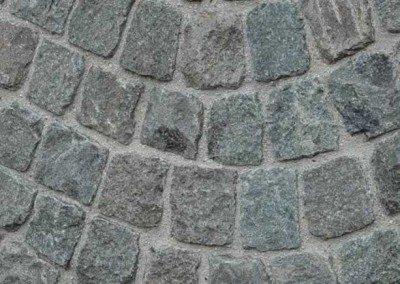 Historic European Cobblestone Antique Granite Cobble Mosaic