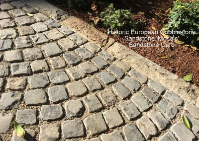 75-Historic European Cobblestone Sandstone Mosaic - Fan Pattern