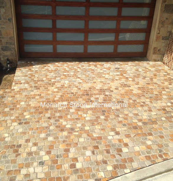 Autumn Blend – Sandstone Cobble Pavers