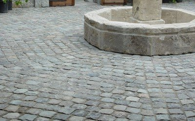 Granite Cobblestone is a Strong Choice For Driveways, Walkways and More!