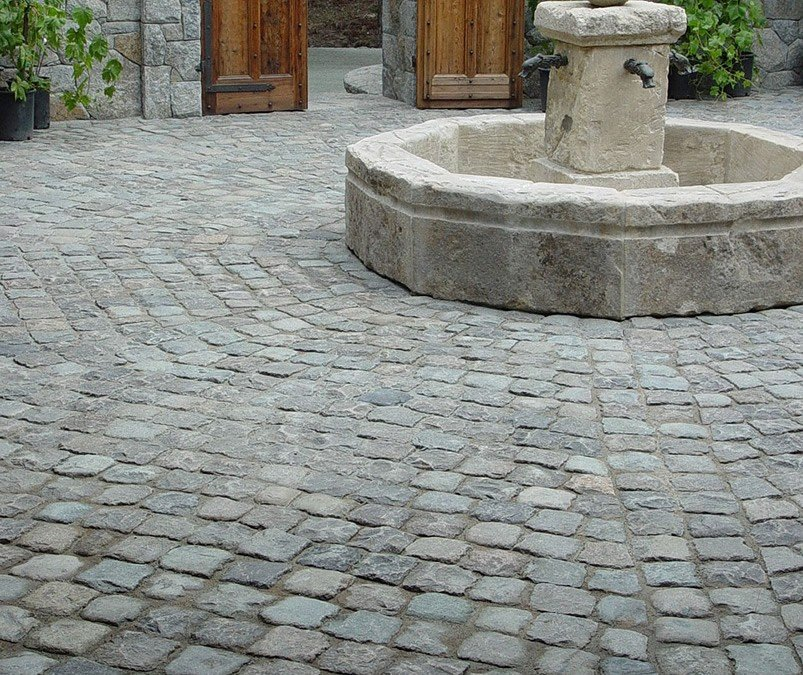 Historic European Cobblestone Granite 6x6