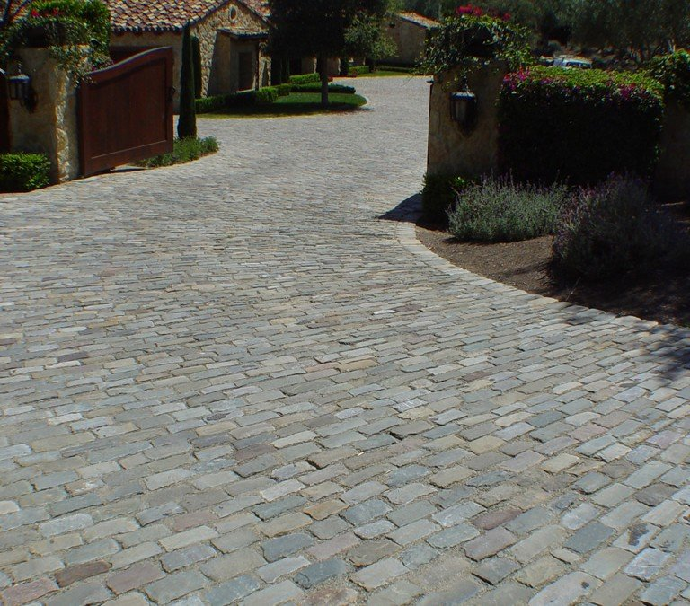 Granite vs Sandstone Reclaimed, Antique Cobblestone