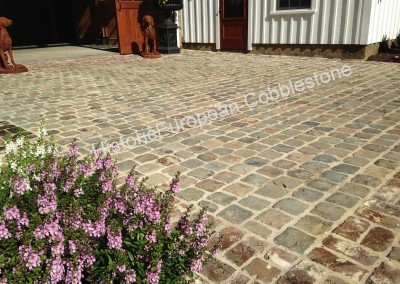 09-Historic European Cobblestone Sandstone 6x6 and antique brick