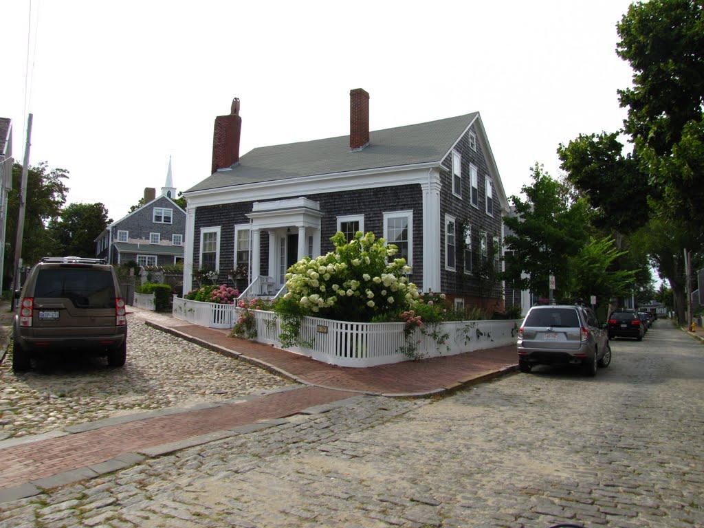 Cobblestone Streets Nantucket Island Ma