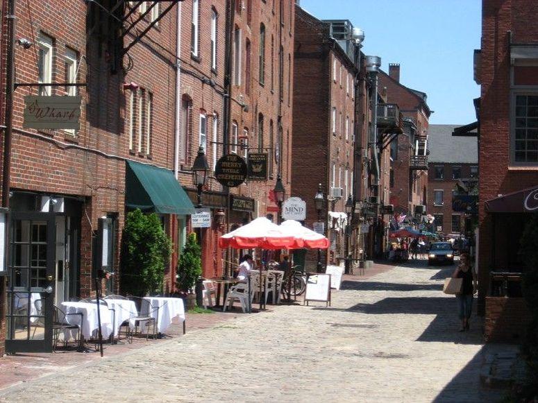 Cobblestone Streets – Wharf Street, Portland Maine