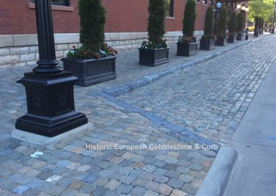 64-Historic Sidewalk Cobble and limestone curb