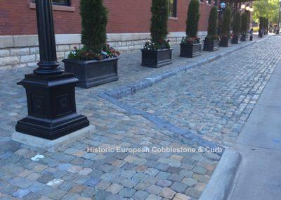 64-Antique Reclaimed Cobblestone & Curb