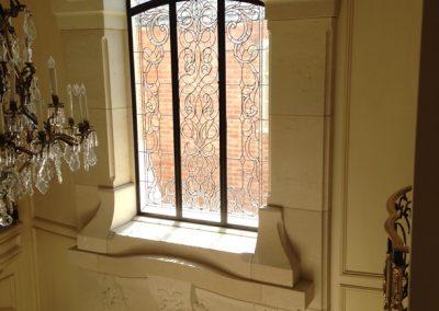 French limestone interior entry