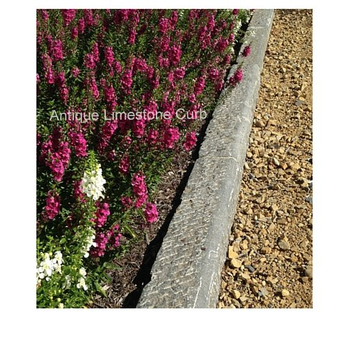 Antique limestone curb