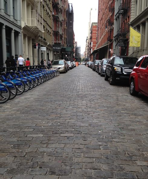 Cobblestone Streets in SoHo, New York