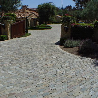 Antique Sandstone Cobblestone for Driveways, Walkways, Patios