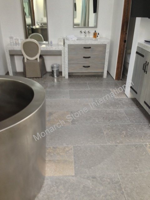 French Limestone Limeyrat in Bathrooms