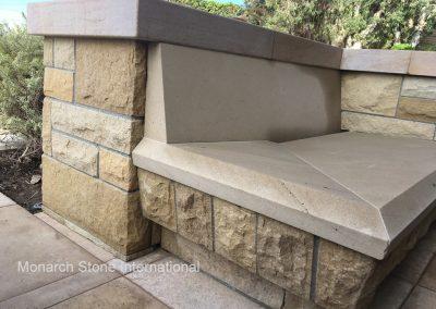 32-Santa Barbara Sandstone French Limestone, bench seat