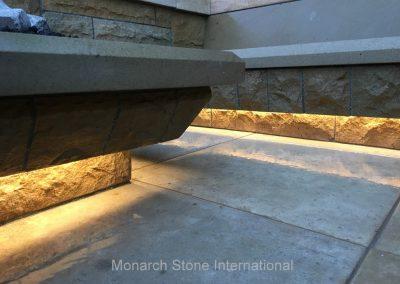 49-Santa Barbara Sandstone. French Limestone Massangis flooring