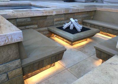 51-Santa Barbara Sandstone, rench Limestone Massangis flooring, Buxy Jaune coping 02