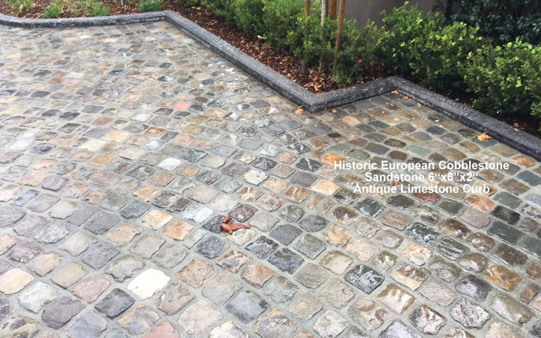 Antique European Cobblestone Driveway and Curb Create a Lasting Impression!