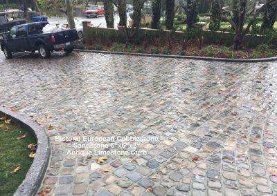 83. Antique SANDSTONE cobble 6x6x2 - Reclaimed limestone curb