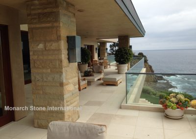 36-Santa Barbara Sandstone and French Limestone, Ashlar pattern - Mid Century Modern