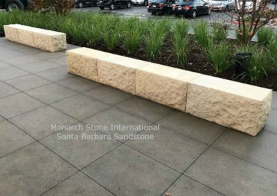 39-Santa Barbara Sandstone Benches, natural split face, sawn top