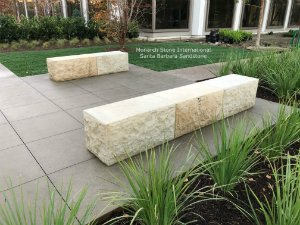 Stone Benches Fabricated in Santa Barbara Sandstone