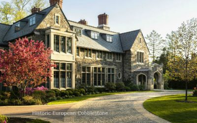 Mansions Entrance Begins With Historic European Cobblestone Driveway