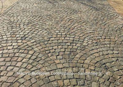 Sandstone Cobblestone Mosaic Fan Pattern