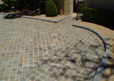 Antique Sandstone Cobble and Curb