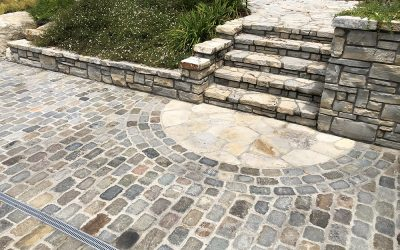 Historic European Cobblestone Antique Pavers for Driveway