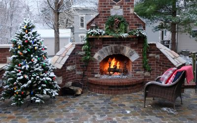 Cobblestone Patio Is Warm And Inviting!