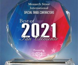 Monarch Stone International Receives 2021 Best of San Clemente Award