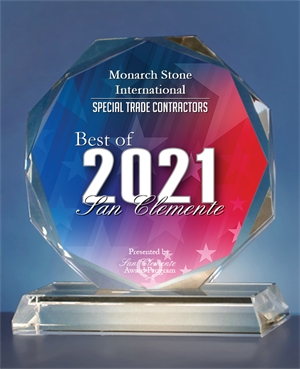 Monarch Stone International Receives 2021 Best of San Clemente Award